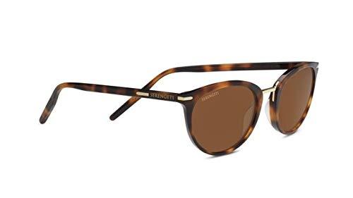 Serengeti Elyna Sunglasses, Drivers Ultra-Light Mineral Lens, Shiny Havana Frame by Serengeti