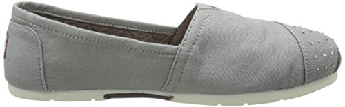 Sacudidas De Luxe Skechers Moda Resbalón-en Flat gris