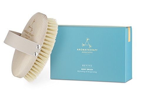 Revive Body Brush - 100% Natural Vegan Agave Sisal Bristles for Dry Skin Brushing - Exfoliate Dead Skin, Detox, Reduce Cellulite, Stimulate Circulation and Lymphatic Drainage, Brighten and Firm Skin