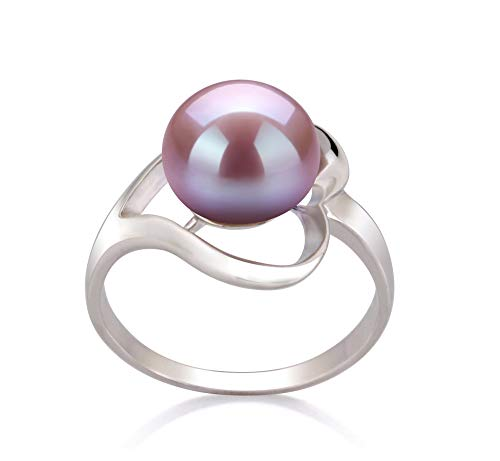 Sadie Lavender 9-10mm AA Quality Freshwater 925 Sterling Silver Cultured Pearl Ring For Women