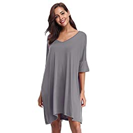 Aibrou Women's Nightdress Loungewear Soft Home T-Shirt Dress Plus Size Loose Maternity Nightwear Labour Gown Hospital Pregnancy Sleepwear