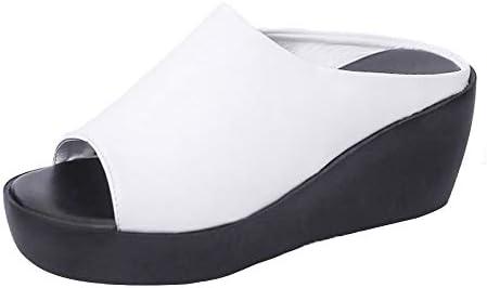 [해외]Trolimons Women\u2019s Trendy Wedges Slippers Peep Toe Slip On Sandals High Waterproof Platform Flat Bottom Beach Walk Shoes / Trolimons Women\u2019s Trendy Wedges Slippers Peep Toe Slip On Sandals High Waterproof Platform Flat Bottom Beac...