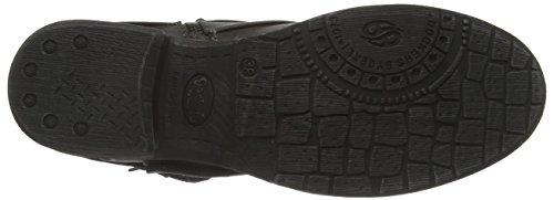 Dockers by Gerli 36KA312 - botas de caño bajo de material sintético mujer gris - Grau (dunkelgrau/schwarz 221)