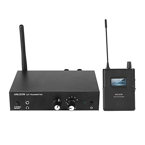 Sistema de Monitor inalámbrico In Ear VBESTLIFE Sistema de Monitor inalámbrico estéreo UHF 670-680MHZ para ANLEON (1…