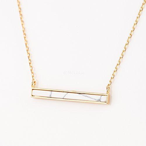 minimal-white-marble-horizontal-bar-necklace-white-howlite-gemstone-necklace
