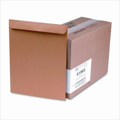 Quality Park Large Format/Catalog Envelopes, Gummed, Brown Kraft, 12 x 15.5, 250 per Box, (QUA41965) by Quality Park