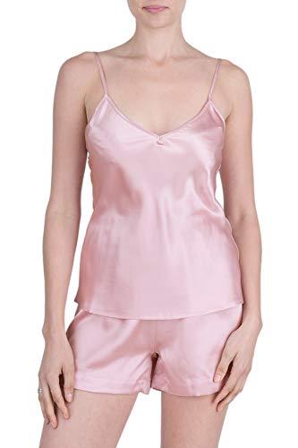 (OSCAR ROSSA Women's Luxury Silk Sleepwear 100% Silk Camisole and Shorts Lingerie Set)