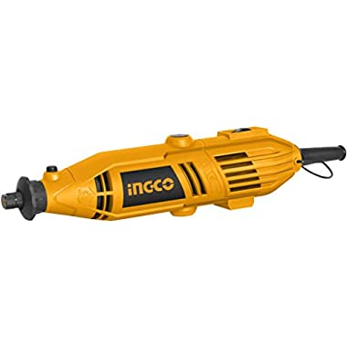 INGCO Mini Die Grinder Rotary 130W Tool Kit with 52pcs accessories and Variable Speed for Drilling, Sanding, Buffing, Polishing, Engraving, etc 10