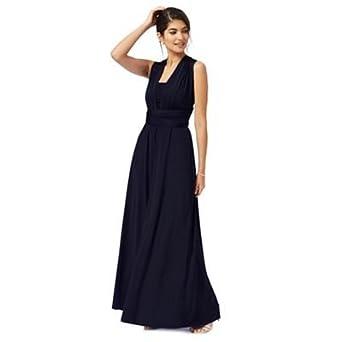 Debenhams Womens Navy Blue Multiway Full Length Evening Dress Size 8