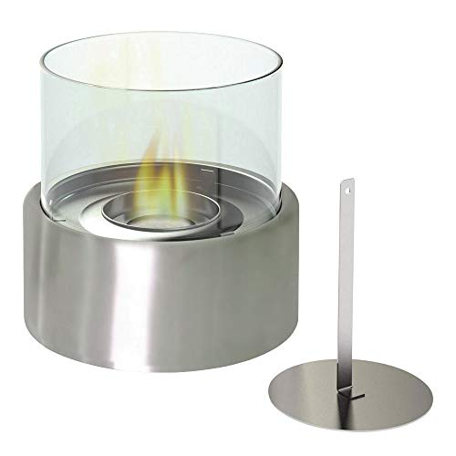 - Bio Ethanol Tabletop Fireplace,Fuel Ventless Heater/Burner,Indoor/Outdoor Fire Pit,Round