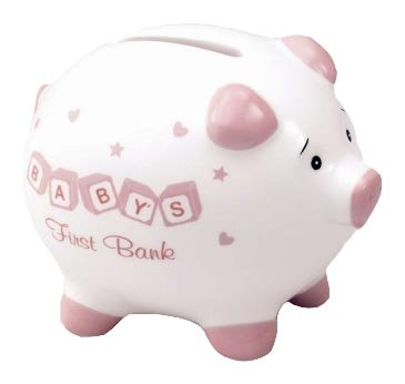 Russ Berrie Baby's First Piggy Bank, Pink (Discontinued by (Russ Berrie Girl)