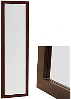 Organize City Brown Full Length Wall Mirror, Over The Door Mirror Wall  Rectangular With Installation