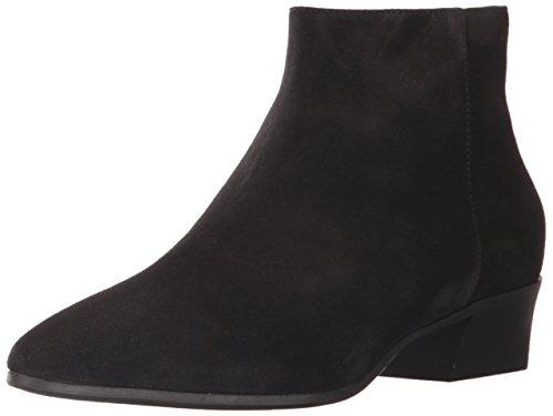 Aquatalia Women's FIRE Suede Ankle Boot, Black, 8 M US