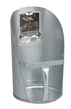 Miller Manufacturing 9204 Galvanized Feed Scoop ,Multi ,4 Quart