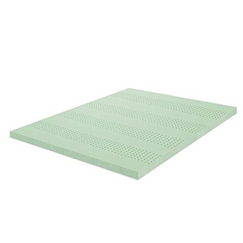 zinus 2 inch green tea memory foam mattress topper full import it all. Black Bedroom Furniture Sets. Home Design Ideas