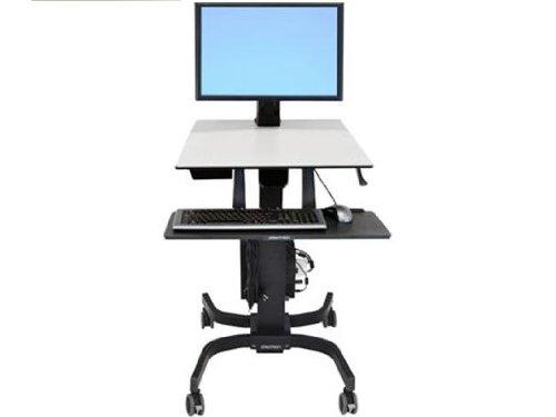 Ergotron WorkFit-CSit-Stand Workstation 76,2 cm (30 Zoll) für Einzel HD Fahrwagen grau-schwarz
