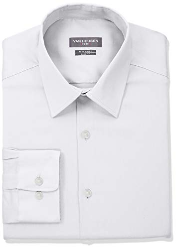 "Van Heusen Men's Flex Collar Slim Fit Stretch Dress Shirt, White, 16.5"" Neck 34""-35"" Sleeve"