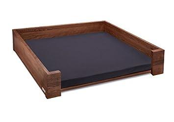 Cama para perro Sofá para perro Haya engrasada 85x65 cm marrón oscuro Incl. Colchón con Protección contra la humedad: Amazon.es: Productos para mascotas