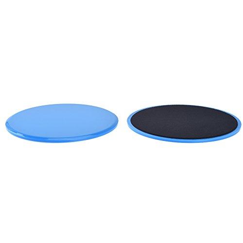 RUNACC Gliding Discs et Bague de résistance Bands Set Sliders d'entraînement Sliders d'exercices, parfaits pour améliorer l'équilibre et la flexibilité du corps, 1 paire, bleu