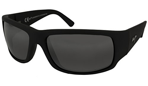 Maui Jim World Cup Sunglasses Matte Black Rubber / Neutral Grey