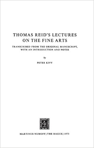 Ebooks téléchargeables pour allumer Thomas Reid's Lectures on the Fine Arts: Transcribed from the Original Manuscript, with an Introduction and Notes (Archives Internationales D'Histoire Des Idées Minor) PDF ePub