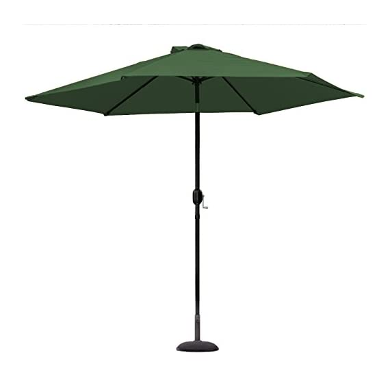 Sorbus Outdoor Umbrella, 10 ft Patio Umbrella with Tilt Adjustment and Crank Lift Handle, Perfect for Backyard, Patio, Deck, Poolside, and More (Green) - 10 FT OUTDOOR UMBRELLA - Stay cool and comfortable outdoors with a beautiful patio umbrella, perfect for shade coverage- Features classic crank operation with adjustable tilt function (NOTE: Umbrella BASE NOT Included) EASY CRANK LIFT SYSTEM - Smooth crank lift handle located on support pole opens/closes umbrella - Easy set-up and take-down so you can relax within seconds - Turn crank lift handle clockwise to open and counter-clockwise to close - Quickly close the umbrella when not in use and store away for safekeeping TILTS TO BLOCK SUNLIGHT -Tilt function adjusts with simple push button - Customizes shade areas based on preference - Protects from harmful UV rays and direct sunlight exposure- Great for sunrise and sunset - Umbrella opens and tilts from the same position, so it's easy to use, without strain on the back - shades-parasols, patio-furniture, patio - 31WkoR31TlL. SS570  -