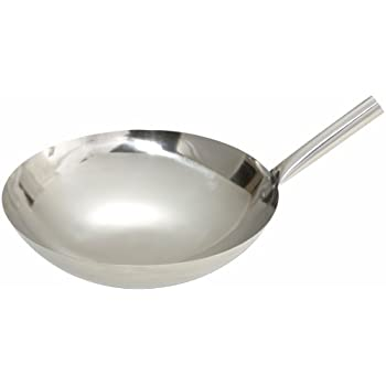 Amazon Com Winco Wok 16n Stainless Steel Wok With Riveted