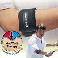 500 Tennis Elbow Support (Gel-Band Tennis Elbow Arm Band - Black, FLA 19-500 - Universal Fit)