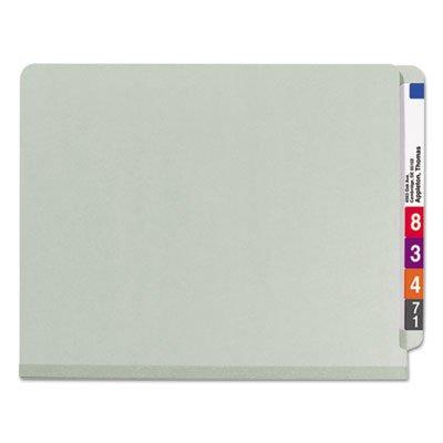 Pressboard End Tab Classification Folder, Letter, 8-Section, Gray-Green, 10/Box, Total 50 EA, Sold as 1 Carton