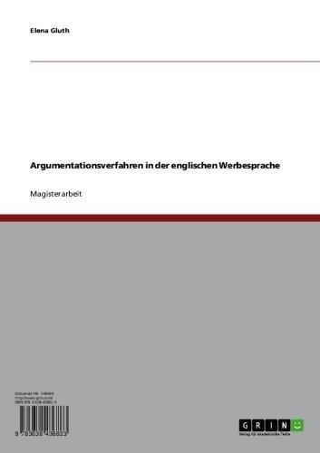Argumentationsverfahren in der englischen Werbesprache (German Edition)
