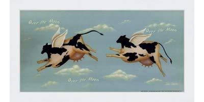 素晴らしい品質 Over the Moon by John Sliney – by 12 Classic x Frame 6インチ – アートプリントポスター LE_614119-F8989-12x6 Classic White Frame B01NAH5GI8, SOWAN:55578409 --- a0267596.xsph.ru