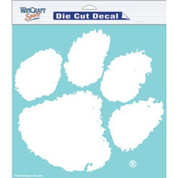 "NCAA Clemson University WCR36560071 Perfect Cut Decals, 8"" x 8"""
