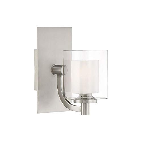 (Quoizel KLT8601BNLED Kolt Modern Wall Sconce, 1-Light, LED 4.5 Watts, Brushed Nickel (9