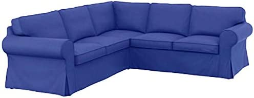 The Thick Cotton Ikea Ektorp 2 2 Sofa Cover Replacement Is Custom Made For Ikea Ektorp Corner Or Sectional Sofa Slipcover Blue Buy Online At Best Price In Uae Amazon Ae