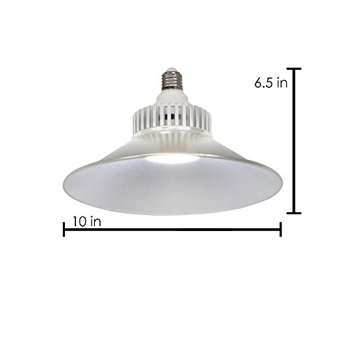 ATM-LED 20W Energy-Efficient 6000K Daylight LED Replacement Utility Bulb with Aluminum Reflector, 2200 Lumens, Garage, Basement, Workshop or Shed, Single Light by ATM-LED (Image #2)