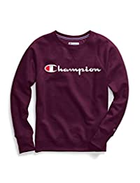 Champion Womens Powerblend Boyfriend Crew Sweatshirt Sweatshirt