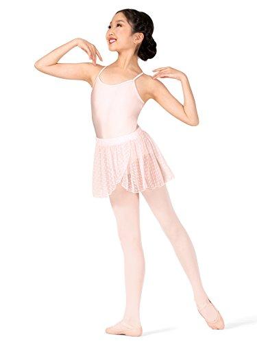 Theatricals Girls Heart Flock Mesh Pull-On Ballet Skirt TH5545CPNKM Pink Medium