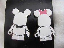 Disney Pins Vinylmation Blank and Bow (2 Pin Set) Mickey and (Destiny Bride Bridal Shops)