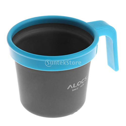 Portable Blue Water Cup Kettle Hard Aluminum Oxide Sport Coffee Tea Mug Cup for Picnic Outdoor Camping Traveling Climbing Home