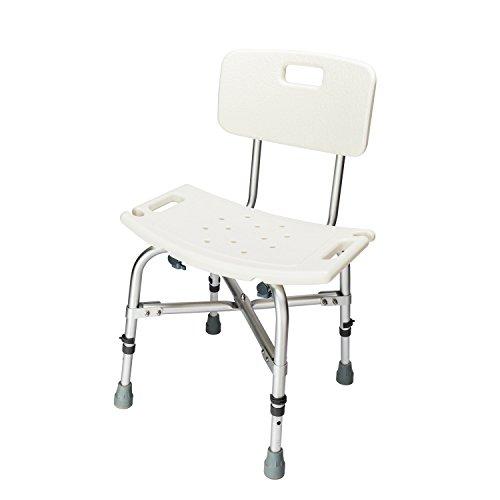 High Blow Molded Bath Bench (Mefeir 450LBS Heavy Duty Medical Shower Chair Bath Seat, Transfer Bench Stool Upgrade Framework SPA Bathtub Chair, No-slip Adjustable 6 Height with Back)