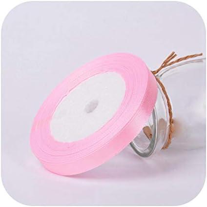 kawayi-桃 25ヤード/ロールグログランサテンリボン結婚式の誕生日パーティーの装飾DIY弓クラフトリボンカードギフトラッピング用品-3-10mm