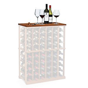 N'FINITY Wine Rack - Tabletop - Dark Walnut - Solid Mahogany
