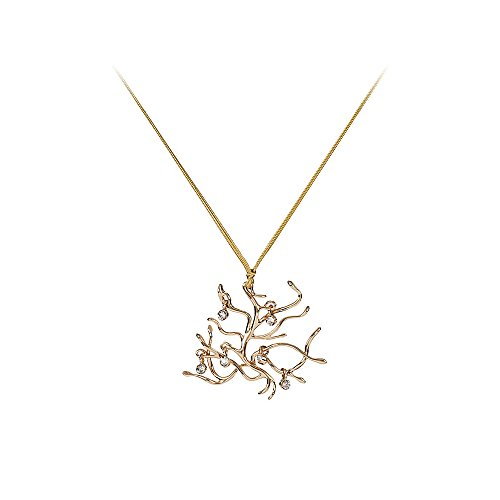 Beauty and the Beast Gold Tone Branches Necklace w/Gift Box by (The Beast X Men Costume)
