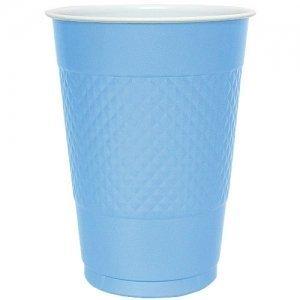 18 Oz Light Blue Plastic Cups - 50 Ct