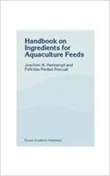 Book Handbook of Ingredients for Aquaculture Feeds
