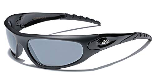 X Loop Mens Wrap Running Triathalon Golf Sports Baseball Sunglasses xl875 (Black)