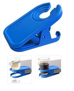 Reversible Clip-On Beverage Holder Blue by Boca