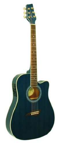 Kona K2SB Acoustic Electric Dreadnought Cutaway Guitar in Tobacco Sunburst Finish (Best $500 Acoustic Electric Guitar)