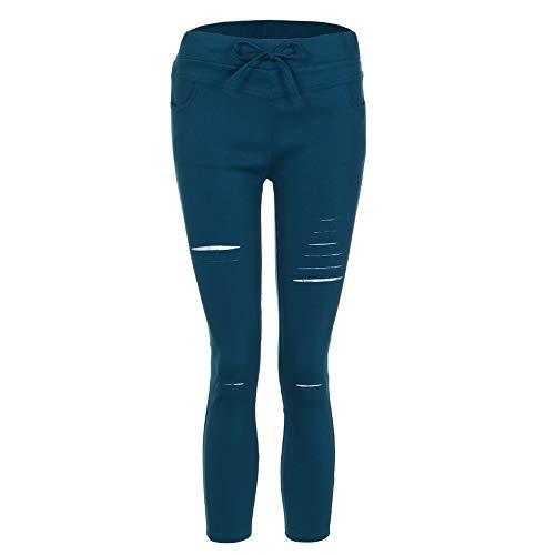 forti Dragon868 alta 2018 pantaloncini Donne Pantaloni Bianco Pantaloni elasticizzati estivi donna Verde casual vita strappati Blu taglie Nero q8qraO