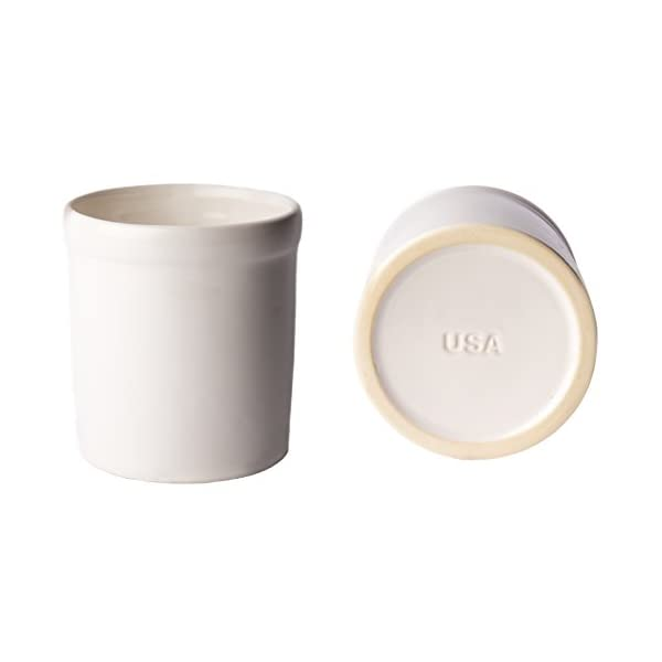 American Mug Pottery Ceramic Utensil Crock Utensil Holder, Made in USA, White 2